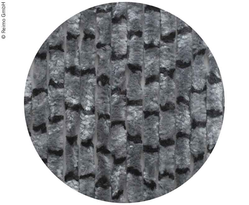 Flauschvorhang 120x185 grau/schwarz
