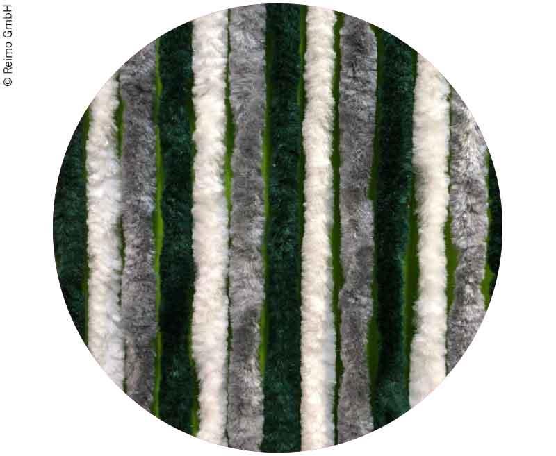 Flauschvorhang 56x205  Grau/Dunkelgrün/Weiß