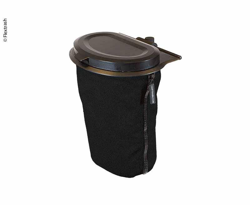 Flextrash Mülleimer, 3L, schwarz, biologisch abbaubares Material