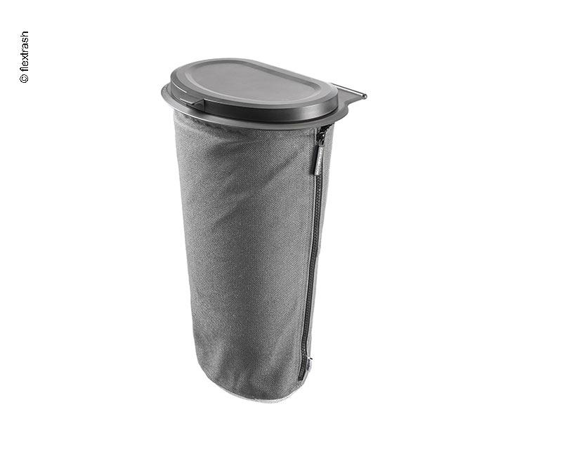 Flextrash Mülleimer, 9 Liter, grau
