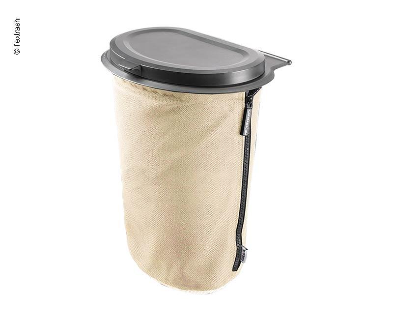 Flextrash Müllerimer, 5 Liter, creme-beige