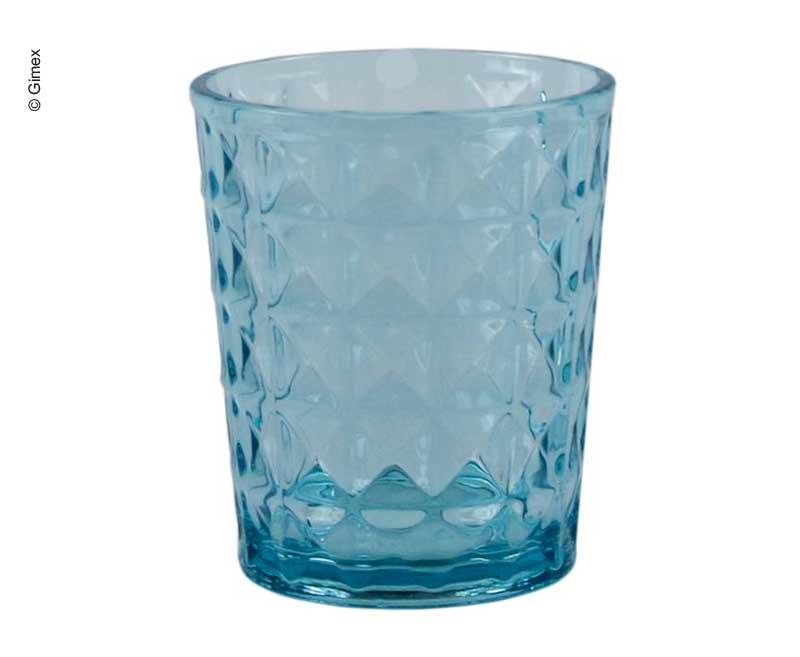 Gimex Wasserglas Stone Line Edelblau