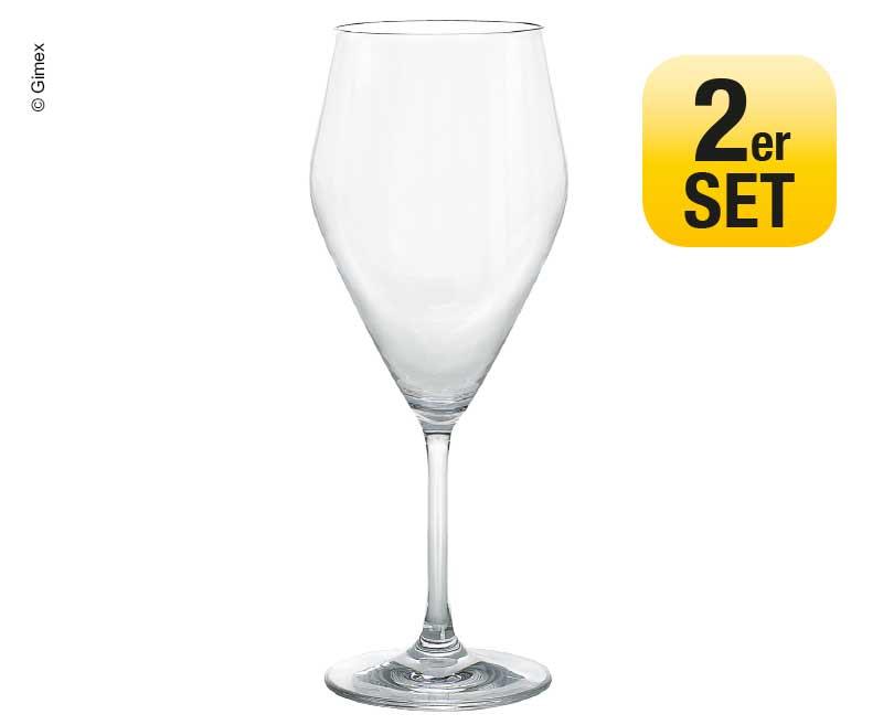 Weinglas 2er Set Gimex, Ø6,8/7,6cm H21,2cm