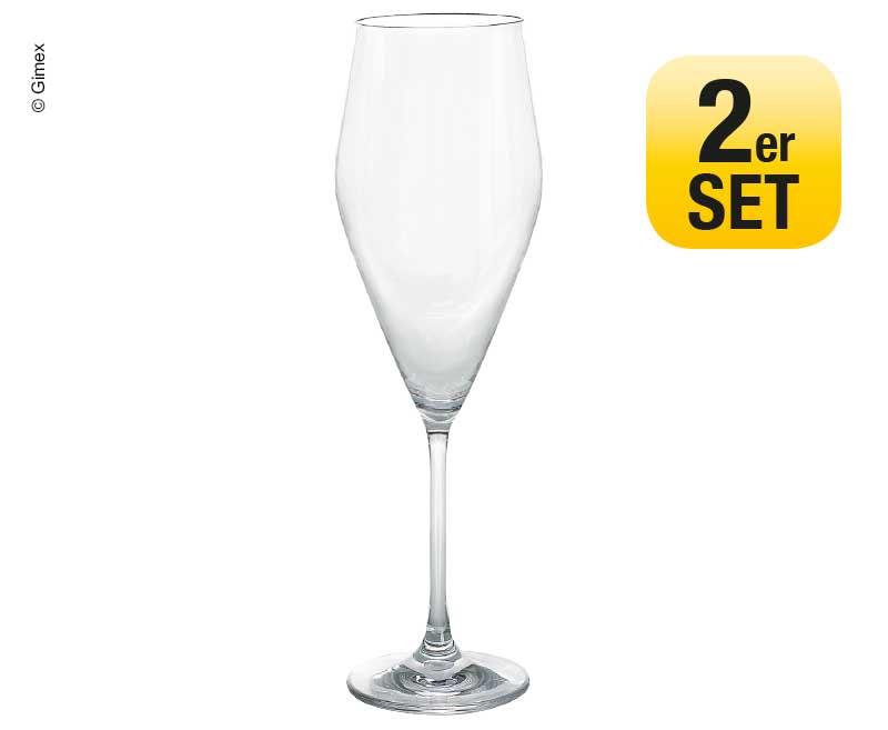 Sektglas 2er Set Gimex  Ø5,2/637CM H21,2cm