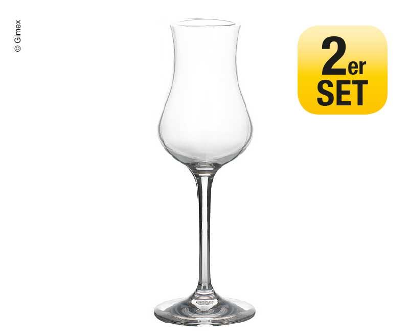 Grappaglas 2er Set Gimex Ø4/5,8cm H17,2cm