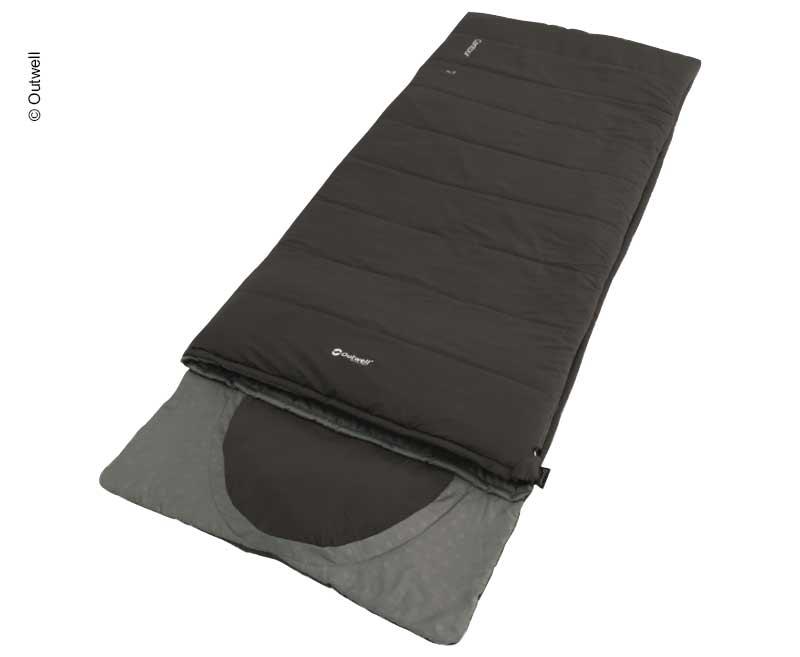 Deckenschlafsack Contour schwarz, 220x85cm, integriertes Kissen