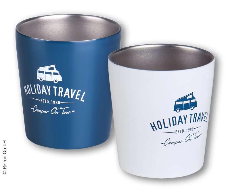 Edelstahl Kaffeebecher, HOLIDAY TRAVEL, 2er Set