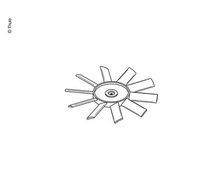 Motor u.Fan Blade Ventila