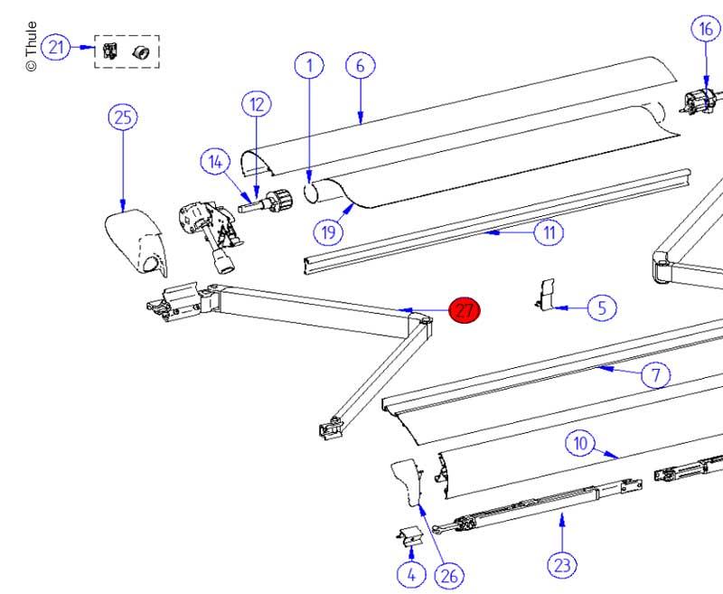 L.H.Spring Arm Compl.6900