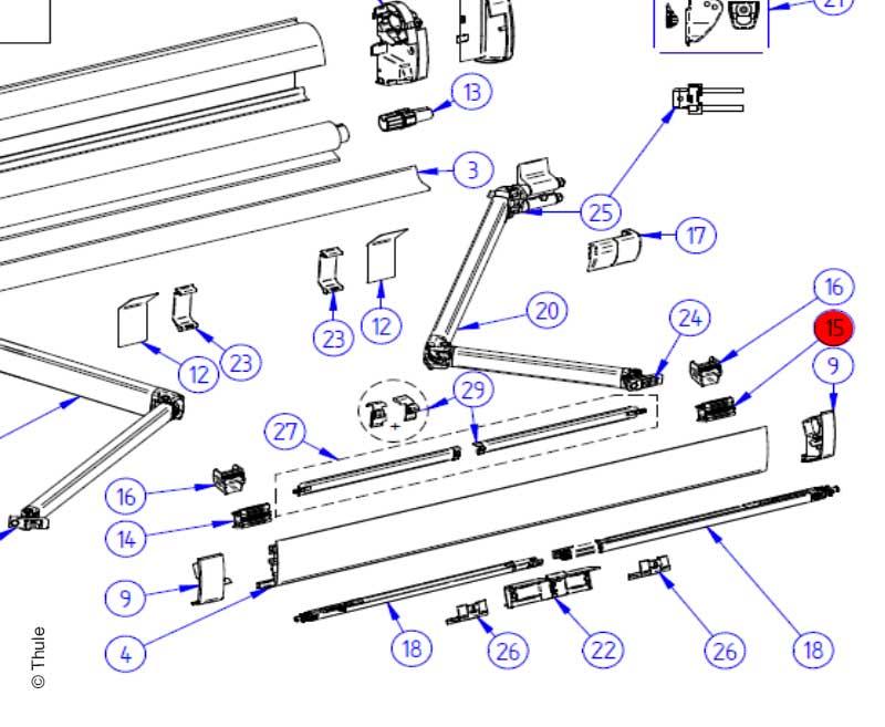 RH Conn Support Arm 5200