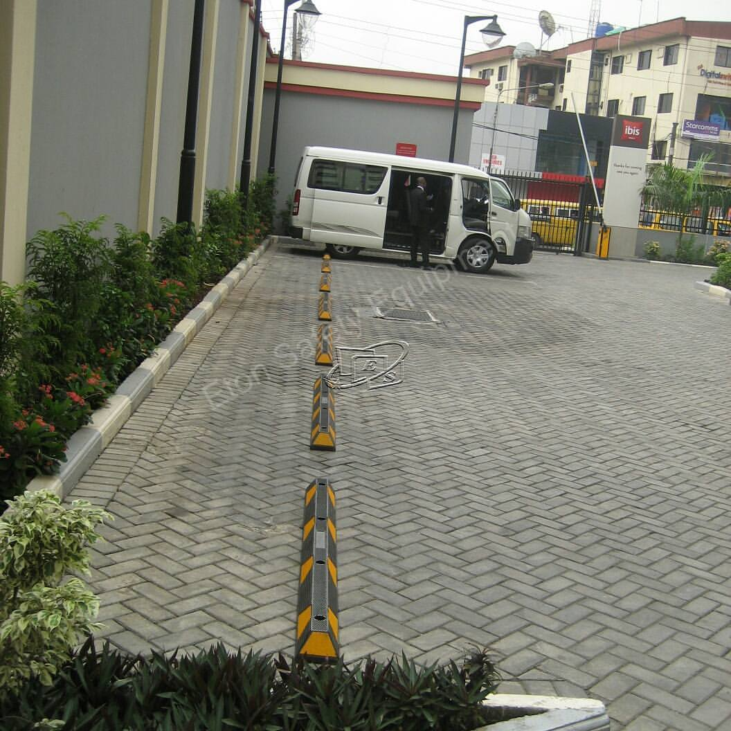 Installation of Long Wheel Stopper at Ibis Hotel, Ikeja