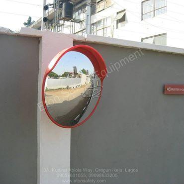 Installation of 60cm Convex Mirror at Halogen Security, Mobolaji Bank Anthony Way, Maryland, Lagos.