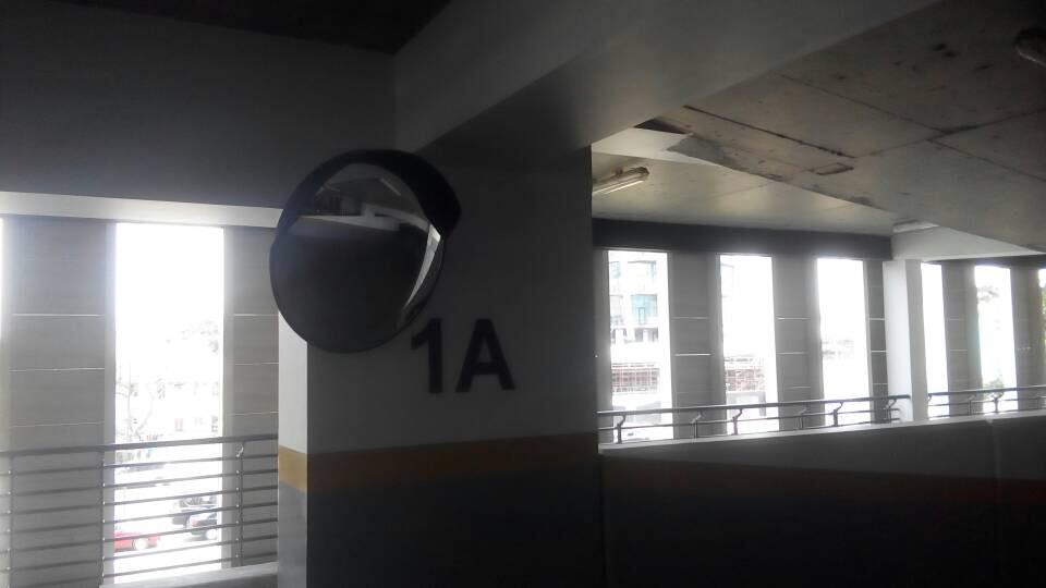 Installation of 80cm Convex Mirror at Mansard Place, Ikoyi Lagos.