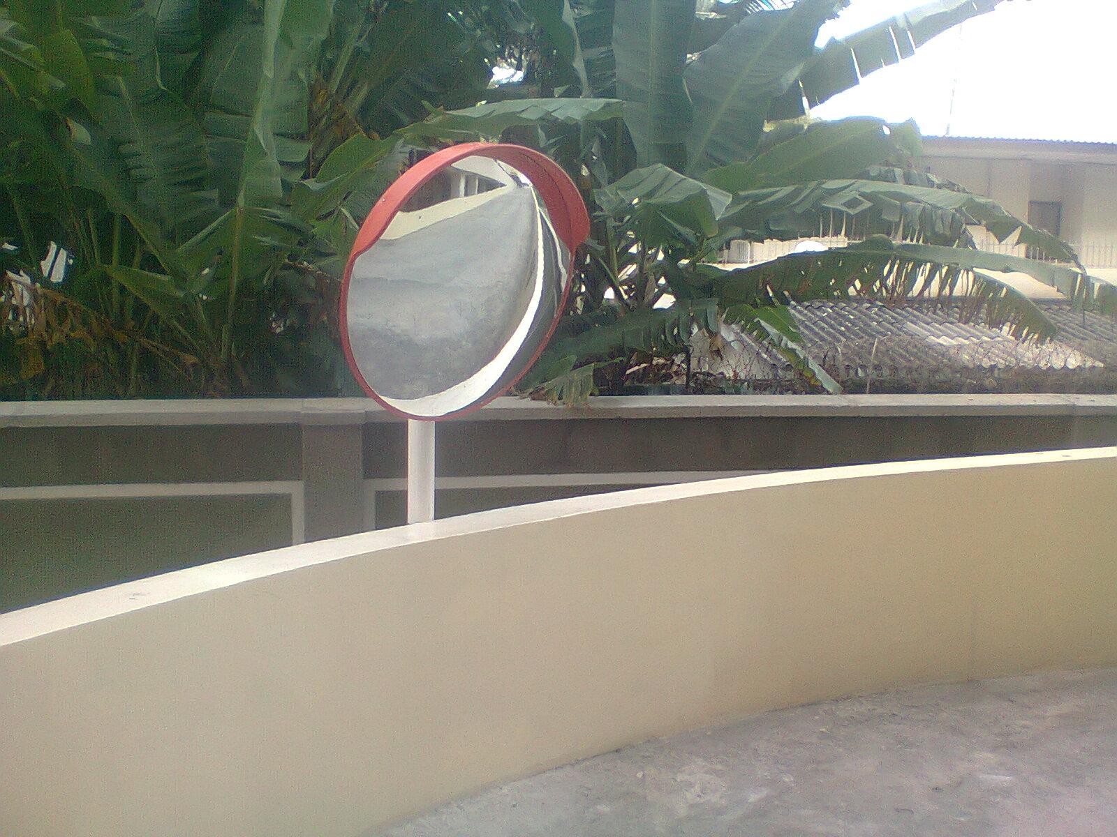 Installation of 80cm Convex Mirror at Mansard Place, Victoria Island, Lagos.