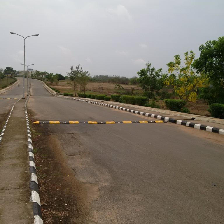 Installation of 25.5 meters 75mm Rubber Speed Bump at Bowen University Campus, Iwo, Osun State, Nigeria