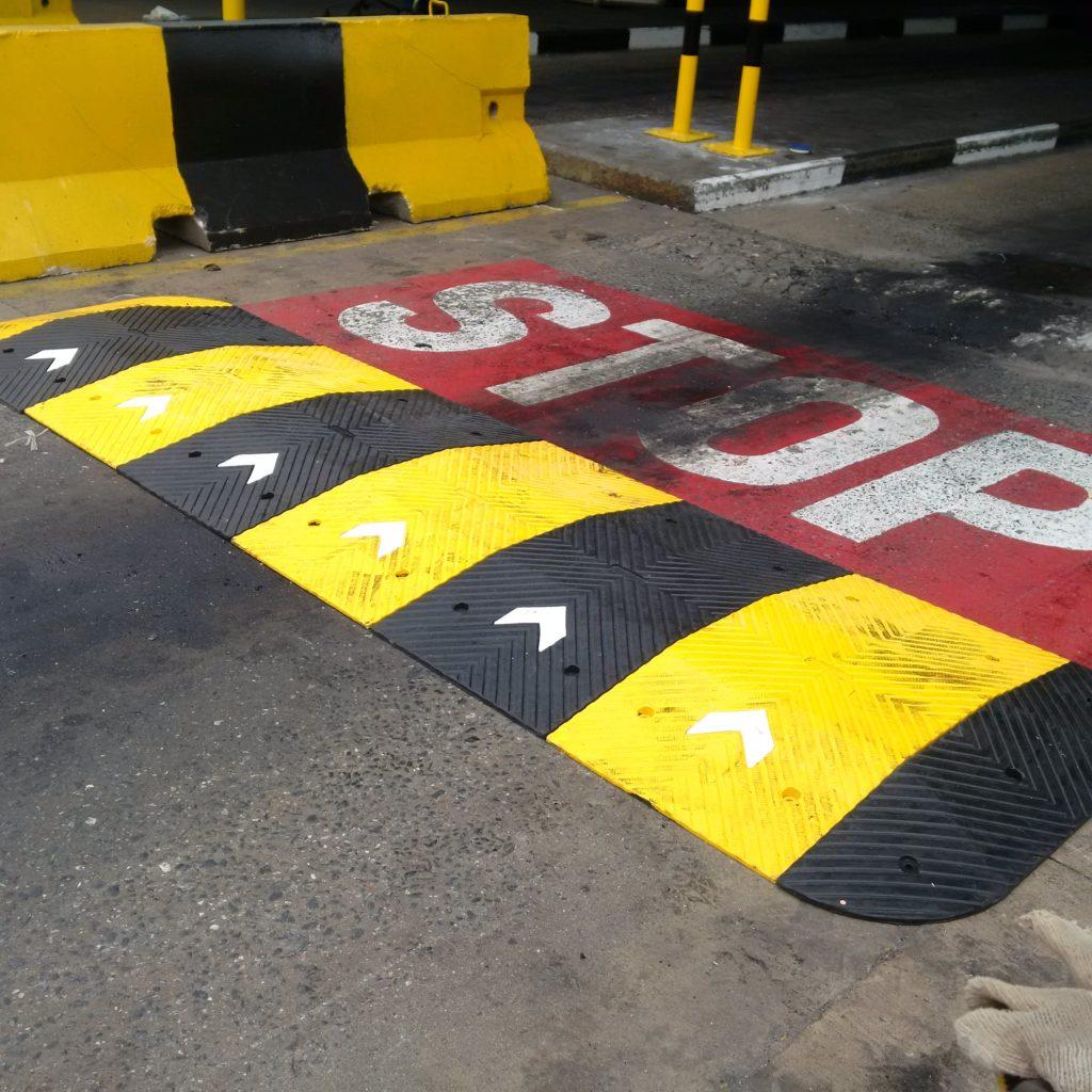 Speed Bump Installation at APTM Terminal, Apapa Lagos