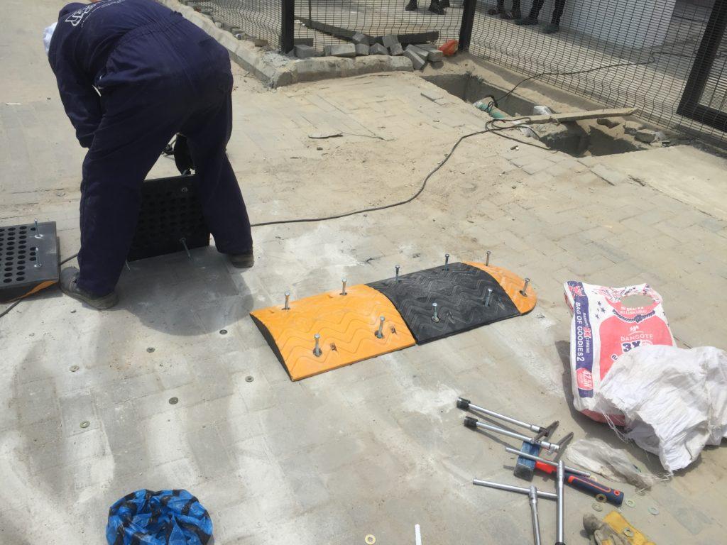 Speed Bump Installation at Blenco Supermarket, Lekki Lagos