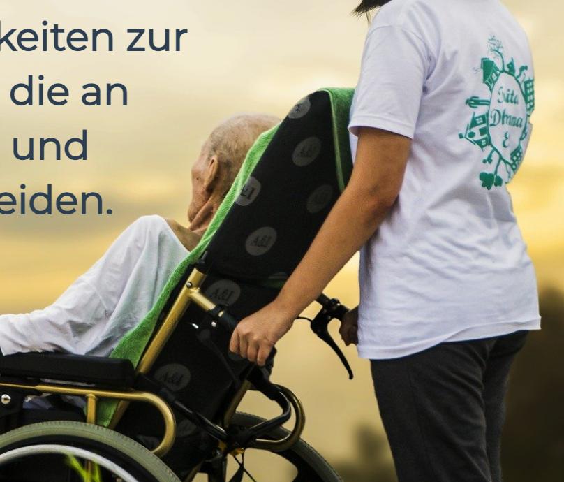 Altenpflege und Pflege für Behinderte