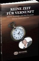 """KOSTENLOSES BUCH: """"Keine Zeit für Vernunft"""""""