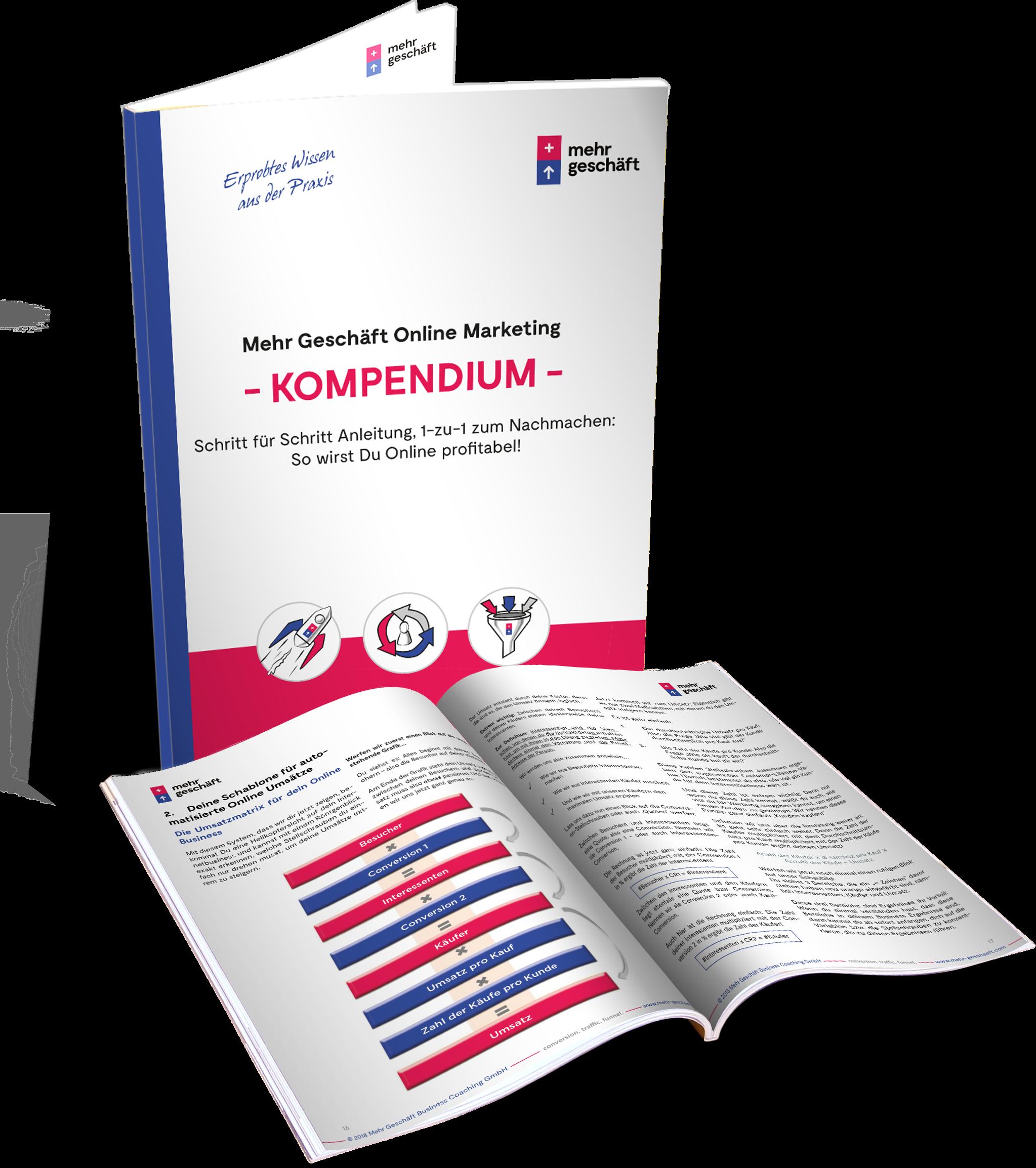 """Gratis Buch:Das """"Mehr Geschäft Online Marketing Kompendium"""""""