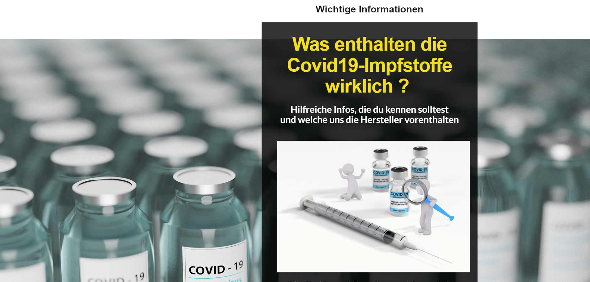 Was enthalten die Covid19-Impfstoffe wirklich ?