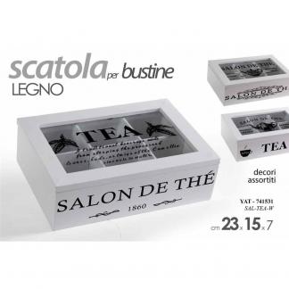 YAT/SCATOLA THE' BIA 23*15*7CM SAL-TEA-W