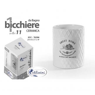 DTC/BICCHIERE BIANCO 10CM DT181127-2/W