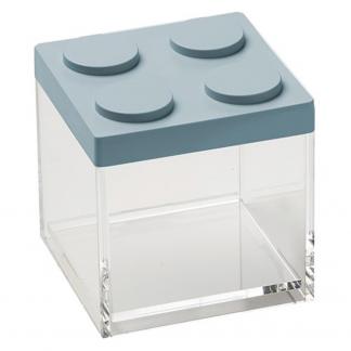 Contenitore BRICKSTORE 10x10x10,5 cm capacit¹ 0,5 L colore azzurro polvere