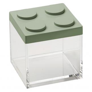 Contenitore BRICKSTORE 10x10x10,5 cm capacit¹ 0,5 L colore verde salvia