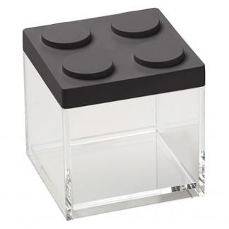 Contenitore BRICKSTORE 10x10x10,5 cm capacit¹ 0,5 L colore nero