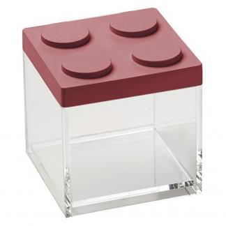 Contenitore BRICKSTORE 10x10x10,5 cm capacit¹ 0,5 L colore rosso