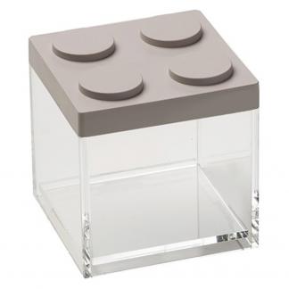 Contenitore BRICKSTORE 10x10x10,5 cm capacit¹ 0,5 L colore tortora