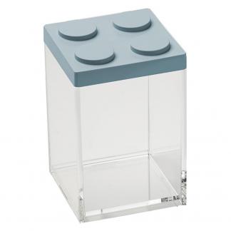 Contenitore BRICKSTORE 10x10x15,5 cm capacit¹ 1 L azzurro polvere