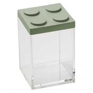 Contenitore BRICKSTORE 10x10x15,5 cm capacit¹ 1 L colore verde salvia