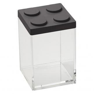 Contenitore BRICKSTORE 10x10x15,5 cm capacit¹ 1 L colore nero