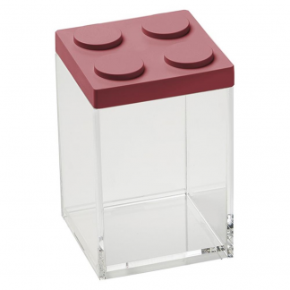 Contenitore BRICKSTORE 10x10x15,5 cm capacit¹ 1 L colore rosso