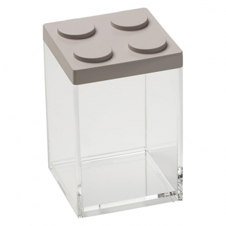 Contenitore BRICKSTORE 10x10x15,5 cm capacit¹ 1 L tortora