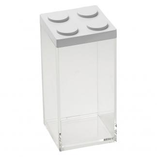 Contenitore BRICKSTORE 10x10x20,5 cm capacit¹ 1,5 L colore bianco