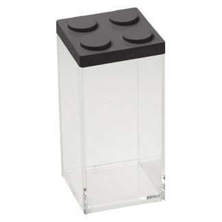 Contenitore BRICKSTORE 10x10x20,5 cm capacit¹ 1,5 L colore nero