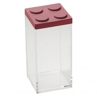 Contenitore BRICKSTORE 10x10x20,5 cm capacit¹ 1,5 L colore rosso