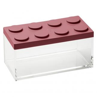Contenitore BRICKSTORE 10x20x10,5 cm capacit¹ 1,5 L colore rosso