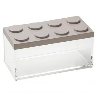 Contenitore BRICKSTORE 10x20x10,5 cm capacit¹ 1,5 L colore tortora