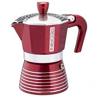 02CF116 CAFFETTIERA 6TZ VERNICIATA ROSSO INFINITY PASSION