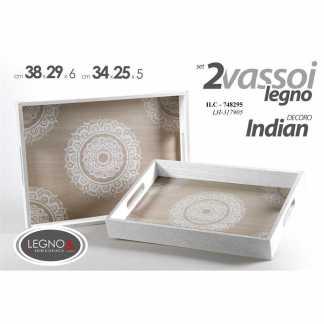 YAT/VASSOIO 39X29X5CM INDIAN ZY172153A 748295-G