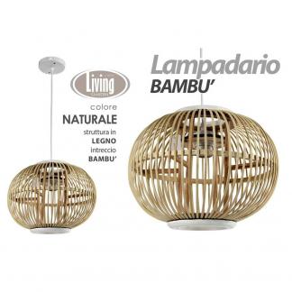 XDH/LAMPADARIO NAT 34*25 HY18104B/N