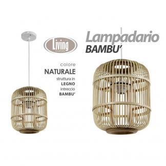 XDH/LAMPADARIO NAT 27*27,5CM HY18105C