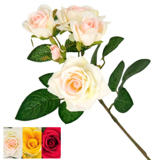 KAR 36614 BOUQUET ROSE ASS. 24/72 82CM