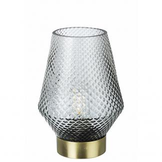 LAMPADA TAV. LED MUMBAI GRIGIO-ORO H17,5