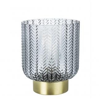 LAMPADA TAV. LED DELHI GRIGIO-ORO H13