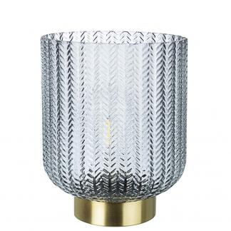 LAMPADA TAV. LED DELHI GRIGIO-ORO H21